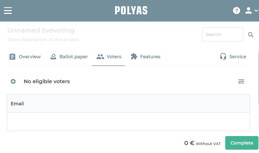 Create register of voters
